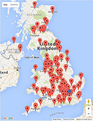 AISCUCO COUNTRY PAGES - Uk universities map